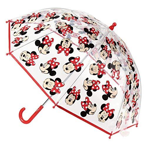 Cerdá-2400-0512 Minnie Paraguas Campana Transparente
