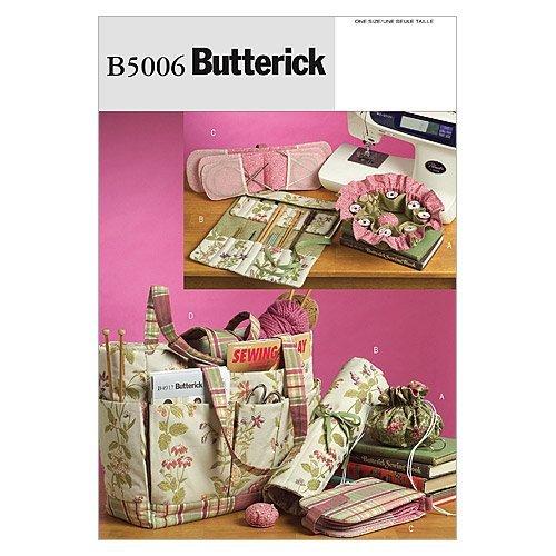 Butterick Patterns B5006 - Patrones e Instrucciones para Hacer Bolsos y Accesorios, Color Blanco