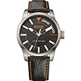 BOSS Orange Herren-Armbanduhr Analog Quarz (One Size, schwarz)