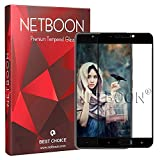 NETBOON® Original Gionee A1 Tempered Glass Screen Protector Full Coverage Glass Guard - Black