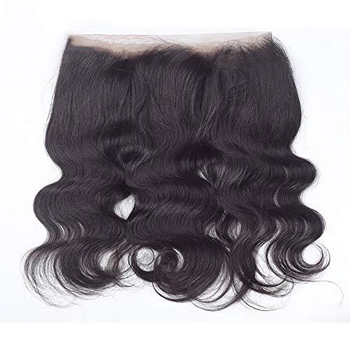 Fcyc parrucche ricce frontali del merletto dei capelli del virgin brasiliano delle signore 360 per l'onda di acqua legata mano delle donne con colore naturale dei capelli del bambino,16inch