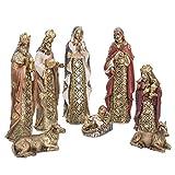 f5f17492200 Belén de Navidad con Reyes Magos con Mosaico de Espejos Dorado Moderno para  la Entrada Christmas
