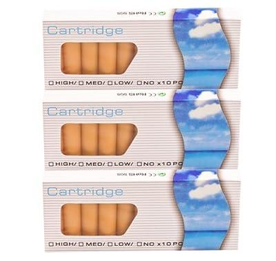 30 Stück Aromakapseln, je 10x APFEL, 10x KIRSCHE, 10x VANILLE SmokerFuchs® Aromakapseln Filter Depots mit 0,0 mg Nikotin - Depots im günstigen Sparset - für die elektronische Zigarette von SmokerFuchs®