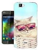 003153 - Cute Cat Sunglasses Fun Design Wiko Rainbow Lite