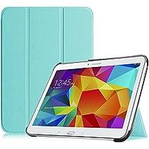 Funda Samsung Tab 4 10.1 – Fintie Súper Thin Smart Funda Case con Stand Función y Imán Incorporado para el Sueño/Estela para Samsung Galaxy Tab 4 10 pulgadas (Azul)
