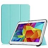Fintie Hülle für Samsung Galaxy Tab 4 10.1 SM-T530 SM-T535 - Ultra Schlank Superleicht Ständer SlimShell Cover Schutzhülle Etui Tasche mit Auto Schlaf/Wach Funktion, Blau