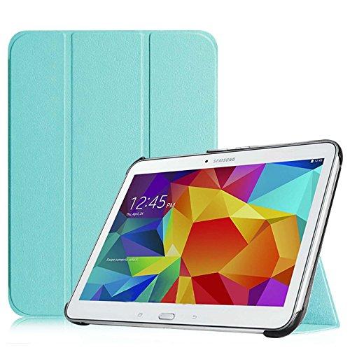 galaxy tab t530 Fintie Hülle für Samsung Galaxy Tab 4 10.1 SM-T530 SM-T535 - Ultra Schlank Superleicht Ständer SlimShell Cover Schutzhülle Etui Tasche mit Auto Schlaf/Wach Funktion, Blau