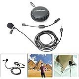 Fantaseal® Micrófono de Solapa para GoPro Micrófono externo de GoPro Micrófono omnidireccional Micrófono condensador con Lavalier de solapa de clip collar para GoPro Hero 4 / Hero 3+ / Hero3