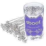 40 Stück Blumen Kristall Strass Haarnadeln mit einem Aufbewahrungsbeutel für Braut Hochzeit Haar Zubehör (Weiß)