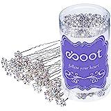 eBoot 40 Piezas Horquilla de Pelo de Cristal de Flor Clip de Pelo de Diamante con una Bolsa de Almacenaje para Accesorios de Pelo de Boda Novia (Blanco)