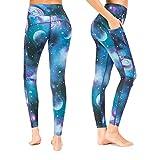 Munvot Yoga Leggings Damen mit Taschen Sporthose Yogahose Tights Fitnesshose Sport Leggings für Damen - Merkur/XL (DE44-46)