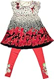 TAVARA Girls' Clothing Set (TAKG0071, Red, 10-11 years)