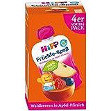 HiPP Fruits de plaisir de baies de forêt en pomme poire 4x 90g (4x 360g)