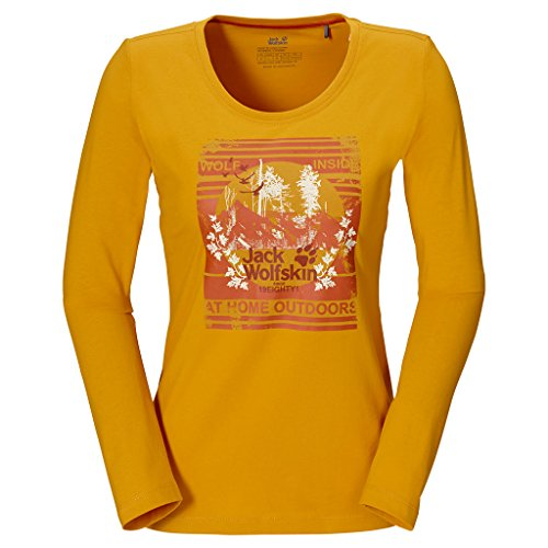 Jack Wolfskin MOUNT NOCULAR LONGSLEEVE WOMEN golden yellow