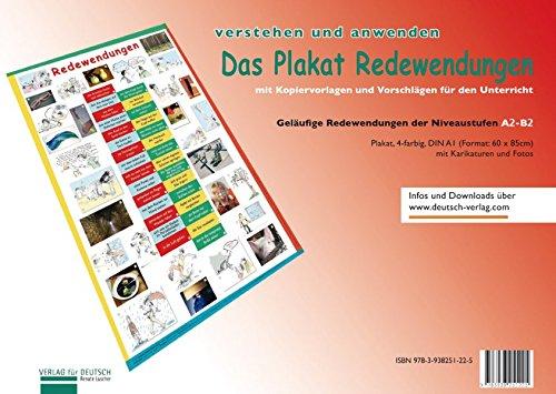 (Plakat Redewendungen: Übungsheft und 1 Plakat (Lernplakate))