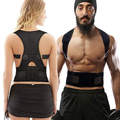 HYX Corrector de Postura Espalda y Hombros para Hombre y Mujer Talla Única - Faja para Dolor de Espalda - Chaleco Corrector de Postura Enderezador de Espalda Transpirable