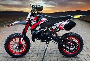 Dirtbike Crossbike Enduro 49cc Coyote 10 pouces - Rouge