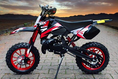 "Coyote 49cc 10\"" Neues Design Bike Cross Pocket Mini quad atv (Rot)"