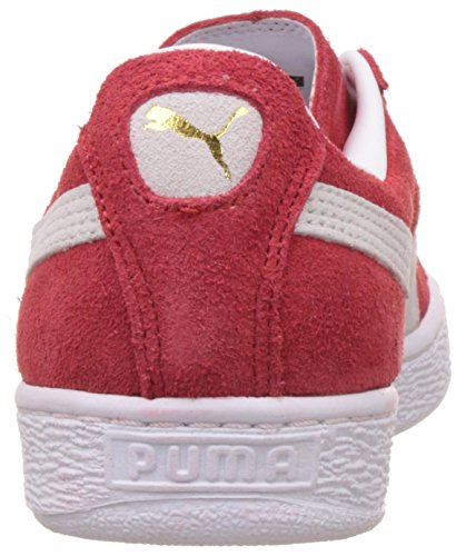 Puma Suede Classic+, Baskets Basses Mixte Adulte, 43 EU Rouge (Red/White 05)