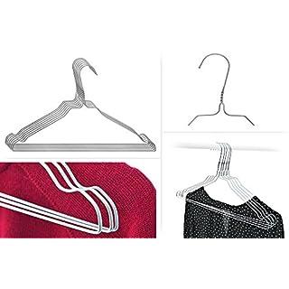 ASIS nettrade Kleiderbügel aus Metall Draht - 100 Stück - verzinkt - Blusen und Hemden