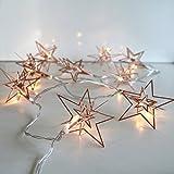 Gift Company Lichterkette LED batteriebetrieben, 3D-Stern, kupfer, L ca. 1,6 m | GC-11586 | 4030195693318