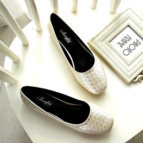 &qq Ladle femmes, plates quatre saisons chaussures, chaussures professionnelles, chaussures à talons bas 37