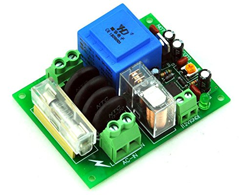Electronics-Salon 220 VAC Netz Power On Delay Softstart-Schutz-Modul, mit 12 VDC Regulator. 12 Time Delay Fuse