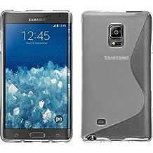 Funda de silicona para Samsung Galaxy Note Edge - S-Style transparente - Cover PhoneNatic Cubierta + protector de pantalla