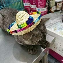 QNMM Pequeño Perro Sombrero Mexicano Mascota Sombrero De Sol Sombrero De  Paja del Gato De Moda 4190655013b