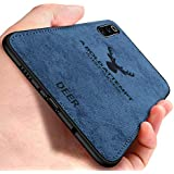 Spazy Case® Samsung Galaxy M30s Deer Series - Shockproof Anti Slip Soft Fabric Case with with Camera Protection Protective Back Case Cover for Samsung Galaxy M30s Samsung Galaxy M30s - (Blue)