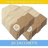 SUPER KIT - 20 SACCHETTI PER ASPIRAPOLVERE VORWERK FOLLETTO VK 130 / 131 SC - Garanzia 24 Mesi Filterprofi