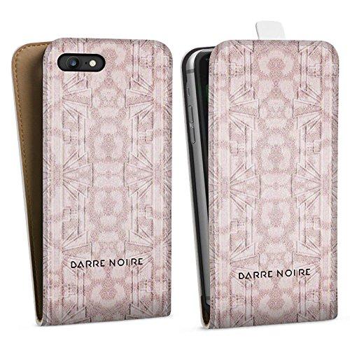 Apple iPhone X Silikon Hülle Case Schutzhülle Blumenmuster Blumen Muster Downflip Tasche weiß