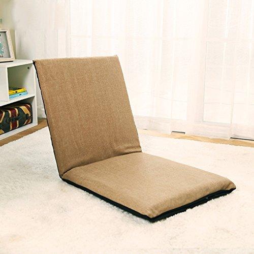 GHM Campingstuhl Boden Stuhl Faltbare Bucht Fenster Stuhl Einzel Sofa Sandy Beach Freizeit Recliners 5 Dateien Einstellbar (Farbe : Earth Tones) -
