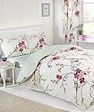 Funda de edredón para cama tamaño grande diseño de flores de con árboles de 2 fundas para almohadas a juego Reversible