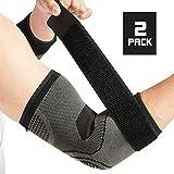 Tutore per gomito con cinghia per tendinite, confezione da 2, gomito del tennista, trattamento del gomito del golf