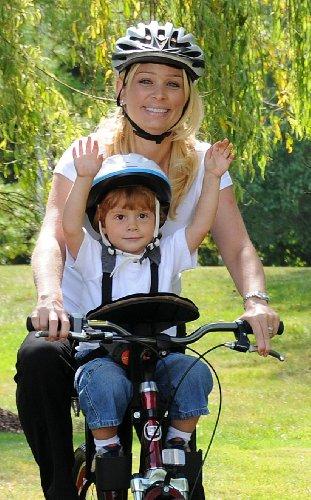 Weeride Siège de vélo Kangaroo Pour enfants de 1 à 4 ans Gris/Rouge