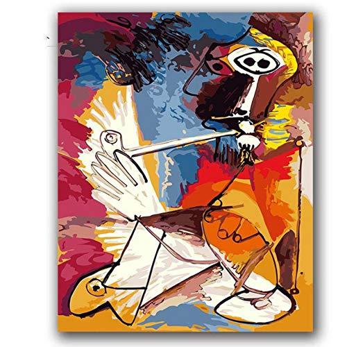 akeansa Diamant Malerei Kit 5D DIY Picassos Gemälde Abstrakte Musik Bilder Kits Hotel Room Decor 30x40 cm -