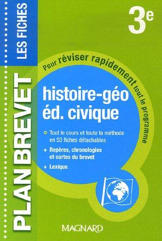 Histoire-géo, éducation civique 3e