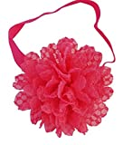 Chicky Chicky Bling Bling Girls Rugged and Rustic Hot Pink Lace Flower Headband Womens Hot Pink
