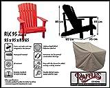 RLC-95-shaped Schutzhülle für Rattan Lounge Sessel, Lounge Chair order Lounge Stuhl, passt am besten am Stuhl von max. 90 x 90 cm.Schutzhülle für Lounge Sessel, Abdeckung für Lounge Stuhl