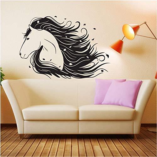 Vinyl Wandtattoos Für Mädchen Zimmer Pferd Pony Aufkleber Dekor Geschenk Wandvinyl RepetableRaumdekorationAbziehbild Für Kindergarten42x61 cm - Pferd Dekor Für Mädchen Zimmer