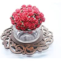 Rote Rose Scrapbooking Craft 50pcs 12mm Blume Mulberry Papier Hochzeit Karte Decor