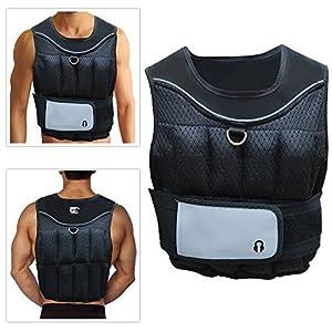 Markenware Sporteq Verstellbar Crossfit Gewichtet Weste 10KG für Gewichtsverlust Laufen Training Fitnessstudio