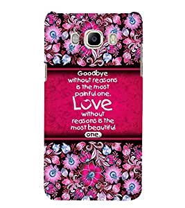 Fuson Designer Back Case Cover for Samsung Galaxy On8 Sm-J710Fn/Df ( Love Quotes Inspiration Emotion Care Fun Funny )