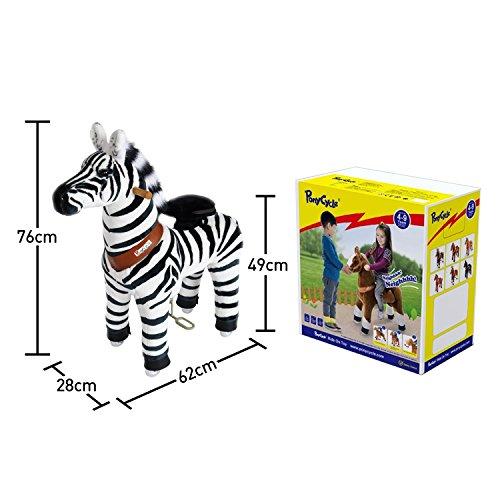 Preisvergleich Produktbild PonyCycle ORIGINAL Fahrt auf Pony Nicht Batterie Betrieben Zebra Kleinen