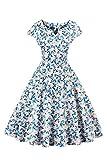 MisShow® Damen Neckholder Rückenfrei ärmellos Abendkleid Brautjungfernkleid Bodenlang Maxikleid Wein-rot 34