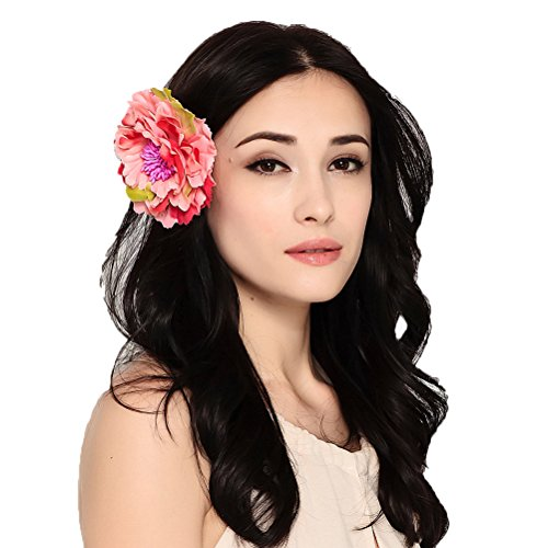 Maitose trade; Frauen Bridal Hair Pins Clip Flower Pin Hat Zubehör Rose Red (Pins Bridal Party)