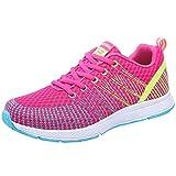 Dorical Damen Schuhe Sneaker/Running Turnschuhe Leicht Fitnessstudio Patchwork Bequem Schuhe Straße Laufschuhe Sporttraining Sportschuhe Outdoor Freizeitschuhe (Pink,38 EU)