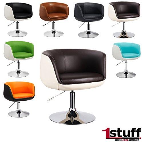 Designer-stile-retr-anni-settanta-Poltrona-Lounge-UFO-di-1stuff-Sedia-girevole-regolabile-in-altezza-e-girevole-a-360-gradi-Retro-sedia-sedia-da-parrucchiere-Poltrona-Lounge-Club-Poltrona-Sedia-Sedia-
