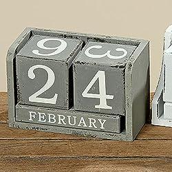 Calendario de madera Gris Dados de madera eterno calendario Calendario permanente